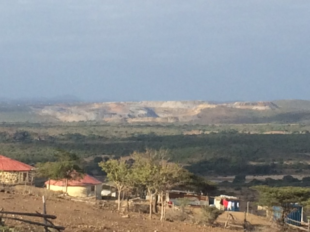 View of Somkhele mine from Ocilwane